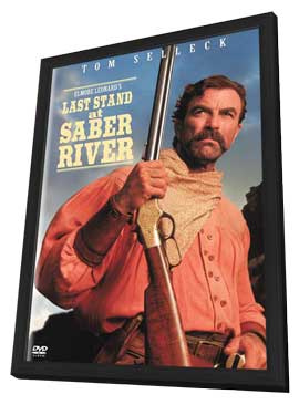 Last Stand at Saber River - 11 x 17 Movie Poster - Style A - in Deluxe Wood Frame