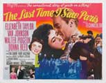 The Last Time I Saw Paris - 22 x 28 Movie Poster - Half Sheet Style A