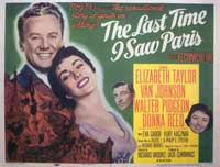 The Last Time I Saw Paris - 11 x 17 Movie Poster - Style A