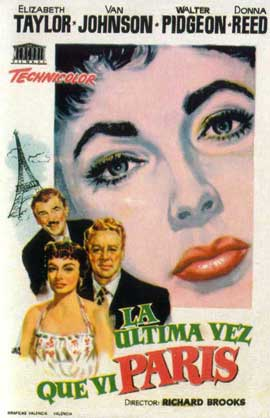 The Last Time I Saw Paris - 11 x 17 Movie Poster - Spanish Style A
