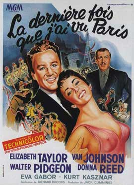 The Last Time I Saw Paris - 11 x 17 Movie Poster - French Style A