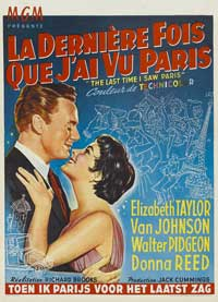 The Last Time I Saw Paris - 27 x 40 Movie Poster - Belgian Style A