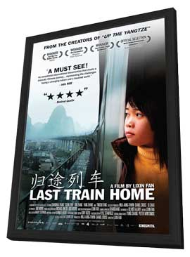 Last Train Home - 11 x 17 Movie Poster - Canadian Style A - in Deluxe Wood Frame