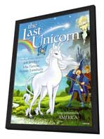 The Last Unicorn - 11 x 17 Movie Poster - Style C - in Deluxe Wood Frame