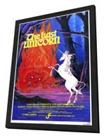 The Last Unicorn - 27 x 40 Movie Poster - Style A - in Deluxe Wood Frame