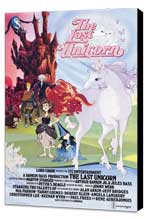 The Last Unicorn - 27 x 40 Movie Poster - Style B - Museum Wrapped Canvas