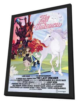 The Last Unicorn - 27 x 40 Movie Poster - Style B - in Deluxe Wood Frame