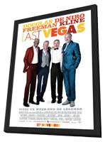 Last Vegas - 11 x 17 Movie Poster - French Style A - in Deluxe Wood Frame