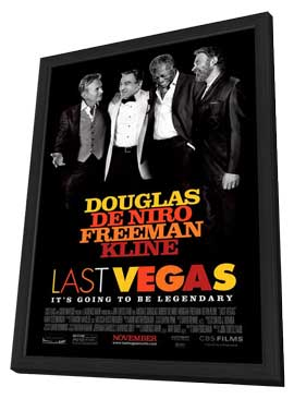 Last Vegas - 27 x 40 Movie Poster - Style A - in Deluxe Wood Frame
