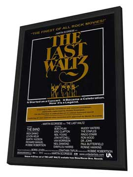 The Last Waltz - 27 x 40 Movie Poster - Style A - in Deluxe Wood Frame