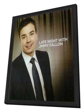 Late Night with Jimmy Fallon (TV) - 11 x 17 TV Poster - Style A - in Deluxe Wood Frame