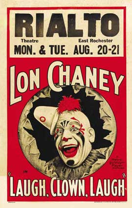 Laugh, Clown, Laugh - 11 x 17 Movie Poster - Style E