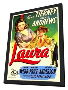 Laura - 11 x 17 Movie Poster - Style A - in Deluxe Wood Frame