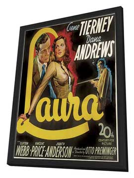 Laura - 20 x 20 Movie Poster - Style A - in Deluxe Wood Frame