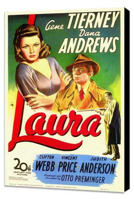 Laura - 11 x 17 Movie Poster - Style A - Museum Wrapped Canvas