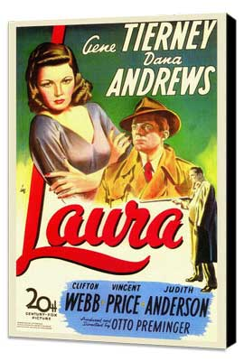 Laura - 27 x 40 Movie Poster - Style A - Museum Wrapped Canvas