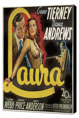 Laura - 20 x 20 Movie Poster - Style A - Museum Wrapped Canvas