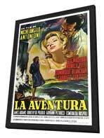 L'Avventura - 27 x 40 Movie Poster - Spanish Style A - in Deluxe Wood Frame