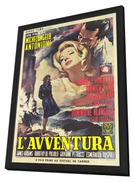 L'Avventura - 11 x 17 Movie Poster - Italian Style A - in Deluxe Wood Frame
