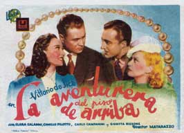 L'avventuriera del piano di sopra - 43 x 62 Movie Poster - Spanish Style A