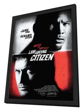 Law Abiding Citizen - 27 x 40 Movie Poster - Style C - in Deluxe Wood Frame