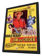 Law and Order - 27 x 40 Movie Poster - Style A - in Deluxe Wood Frame