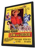 Law and Order - 11 x 17 Movie Poster - Style A - in Deluxe Wood Frame