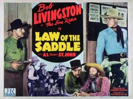 Law of the Saddle - 11 x 14 Movie Poster - Style D