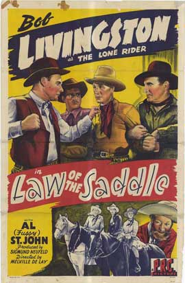 Law of the Saddle - 27 x 40 Movie Poster - Style A