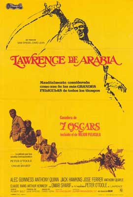 Lawrence of Arabia - 27 x 40 Movie Poster - Spanish Style A