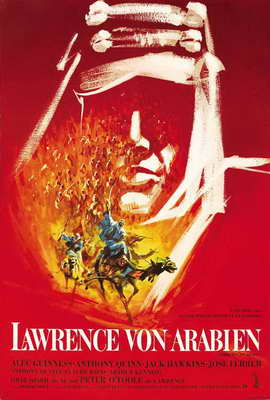 Lawrence of Arabia - 27 x 40 Movie Poster - German Style A