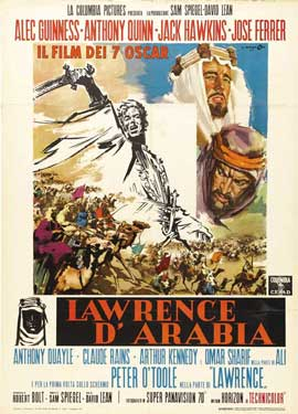 Lawrence of Arabia - 27 x 40 Movie Poster - Italian Style B