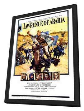 Lawrence of Arabia - 27 x 40 Movie Poster - Style B - in Deluxe Wood Frame
