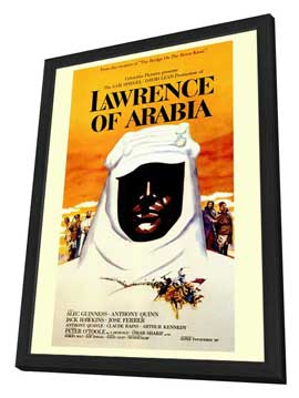 Lawrence of Arabia - 27 x 40 Movie Poster - Style D - in Deluxe Wood Frame