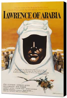Lawrence of Arabia - 27 x 40 Movie Poster - Style D - Museum Wrapped Canvas