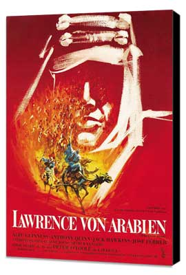 Lawrence of Arabia - 27 x 40 Movie Poster - German Style A - Museum Wrapped Canvas