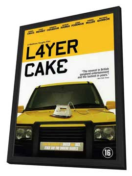 Layer Cake - 27 x 40 Movie Poster - Danish Style A - in Deluxe Wood Frame