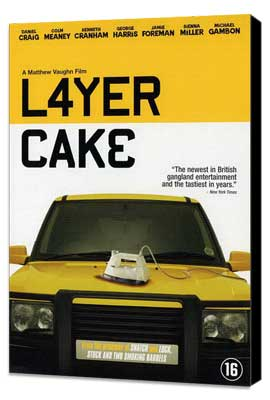 Layer Cake - 27 x 40 Movie Poster - Danish Style A - Museum Wrapped Canvas