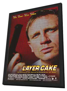 Layer Cake - 11 x 17 Movie Poster - Style A - in Deluxe Wood Frame