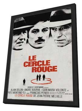 Le cercle rouge - 11 x 17 Movie Poster - French Style A - in Deluxe Wood Frame