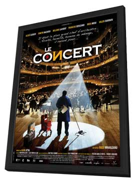 Le concert - 27 x 40 Movie Poster - French Style A - in Deluxe Wood Frame