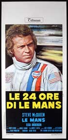 Le Mans - 13 x 28 Movie Poster - Italian Style A