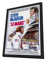 Le Mans - 27 x 40 Movie Poster - Style A - in Deluxe Wood Frame