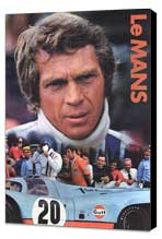 Le Mans - 11 x 17 Movie Poster - Style B - Museum Wrapped Canvas