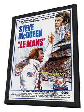 Le Mans - 11 x 17 Movie Poster - Style A - in Deluxe Wood Frame
