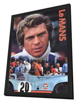 Le Mans - 11 x 17 Movie Poster - Style B - in Deluxe Wood Frame
