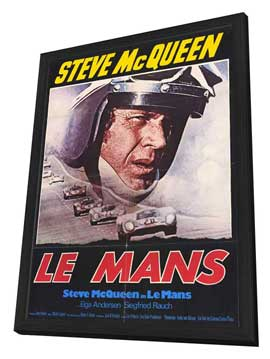 Le Mans - 27 x 40 Movie Poster - German Style A - in Deluxe Wood Frame