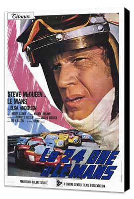 Le Mans - 11 x 17 Movie Poster - Italian Style B - Museum Wrapped Canvas