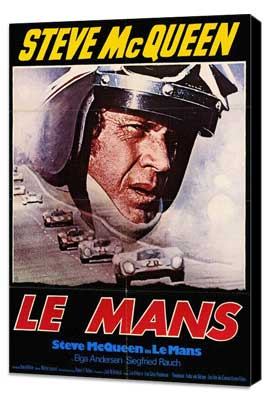 Le Mans - 11 x 17 Movie Poster - German Style A - Museum Wrapped Canvas
