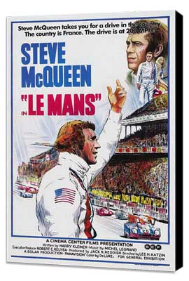 Le Mans - 27 x 40 Movie Poster - Style A - Museum Wrapped Canvas